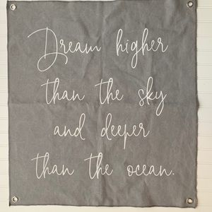 Dream Higher Wall Hanging Canvas